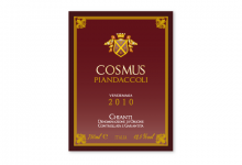2011 | Azienda Agricola Piandaccoli | Etichetta vino Cosmus 2010